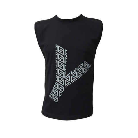 GEO Y Mens Muscle Tank -  Black