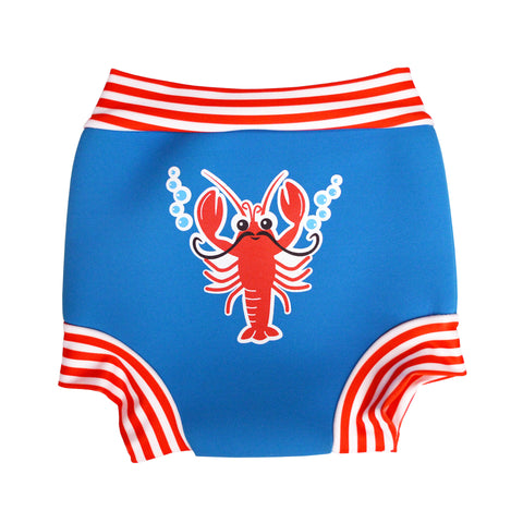Aqua Bubs - Boys Lobster Aqua Nappy