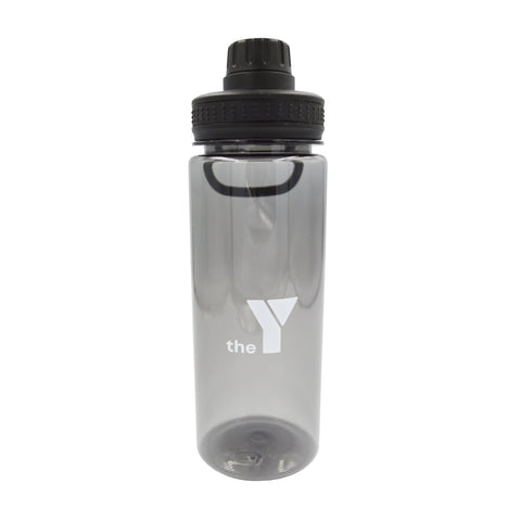 Y Clear Water Bottle with Handle - Black