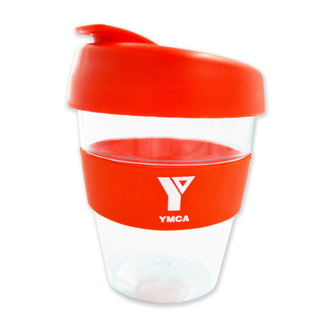 YMCA Clear Plastic Re-Useable Coffee Cup