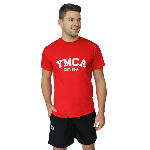 Mens Signature Tee - Red (White YMCA Print)