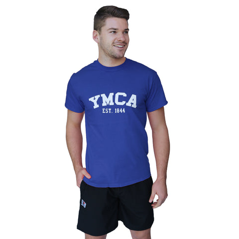 Mens Signature Tee - Royal (White YMCA Print)
