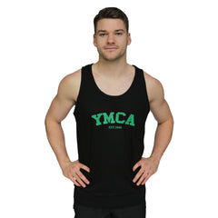 Mens Signature Tank - Black (Green YMCA Print)