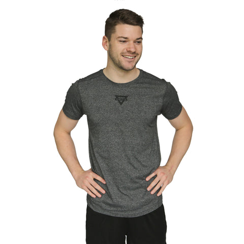 Mens Triangle Active Tee - Dark Heather