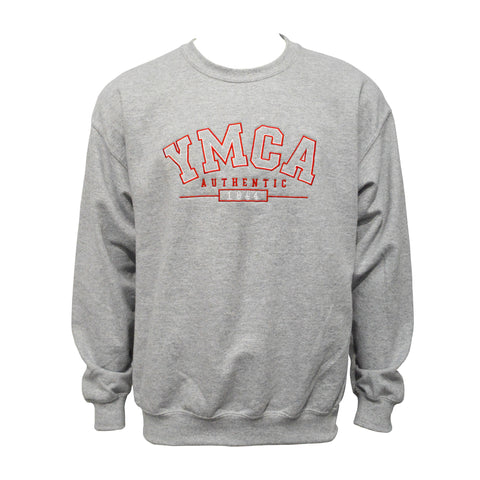 YMCA Authentic Signature Crew Neck Jumper - Grey