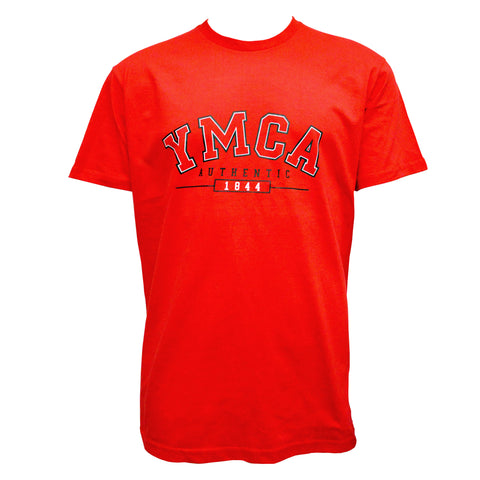 Mens YMCA Authentic Signature Tee - Red
