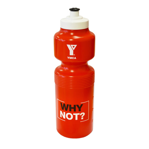 YMCA WHY NOT - Red Water Bottle