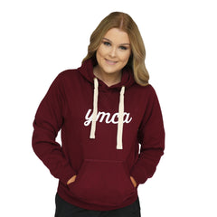 YMCA Womens Heavy Fleece Hoodie - Maroon