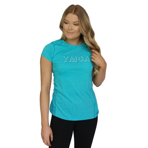 Womens Shadow Active Tee - Jade