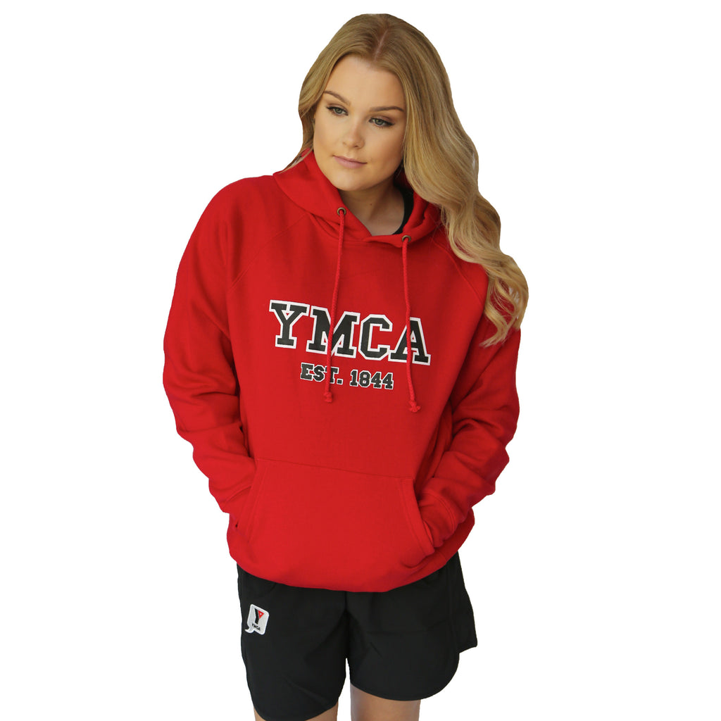 YMCA Unisex Fleece Hoodie - Red