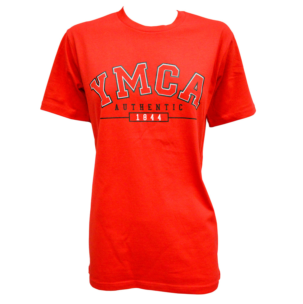 Womens YMCA Authentic Signature Tee - Red