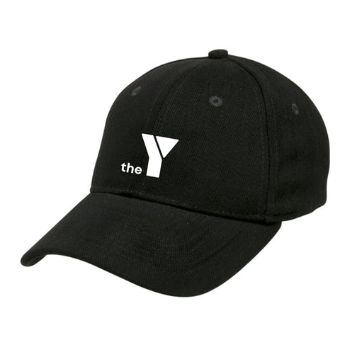 Y Heavy Brushed Cotton Cap - Black