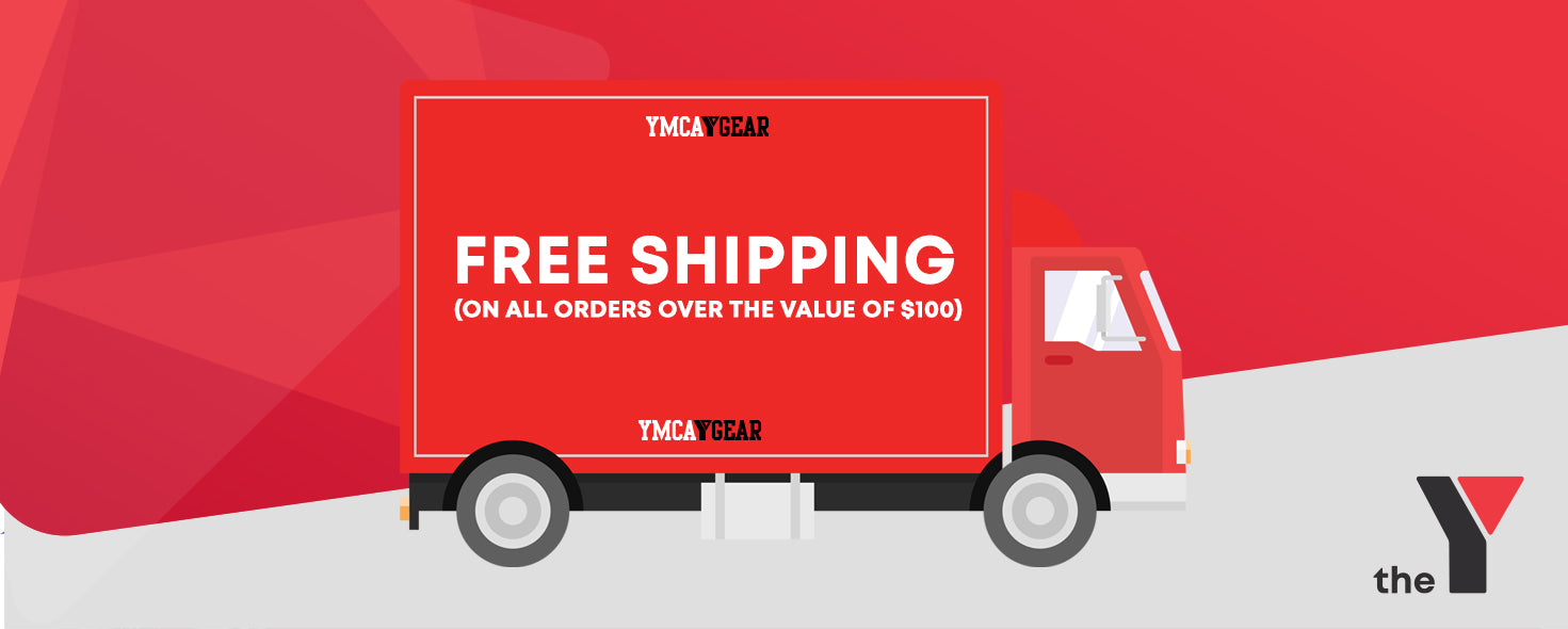 YMCA Gear Free Shipping on all orders over $100