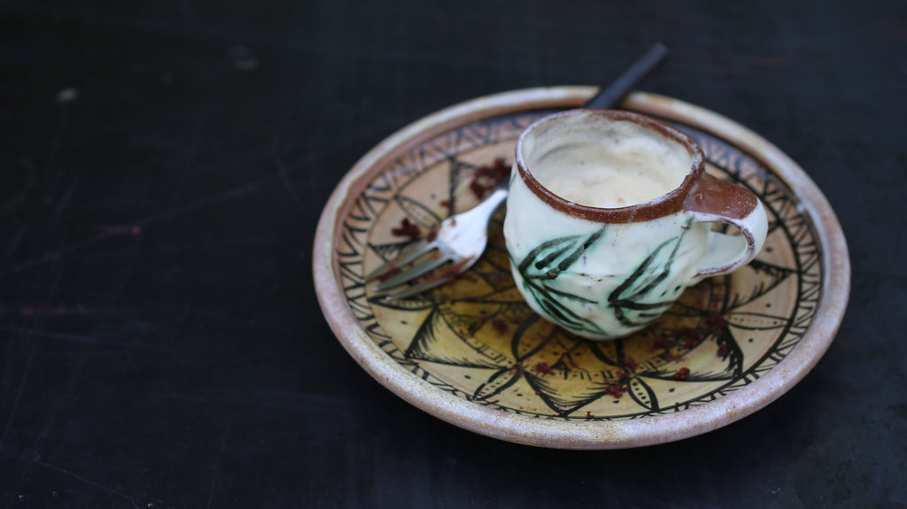 cappuccino cup handmade by potter Maria Dondero in Athens, GA