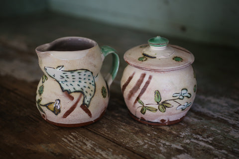 J&A Cream & Sugar Set
