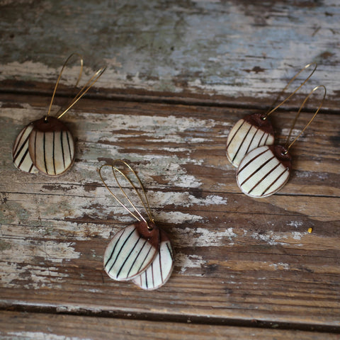 striped earrings!