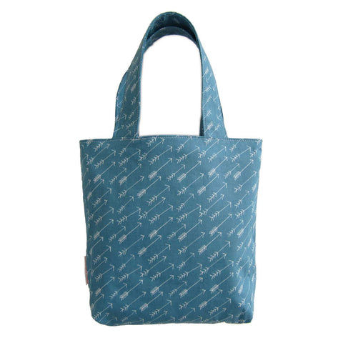 Kids Tote | Teal Arrows