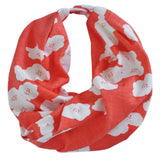 Infinity Scarf | Organic Cotton | Coral Poppies