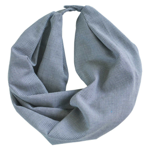 Infinity Scarf | Gray & White Plaid