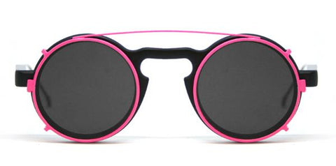 AURORA CLIP ON Matt Black / Fuschia / Black
