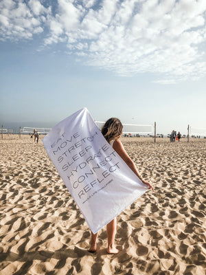 7 Daily Habits Beach Towel