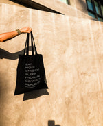 7 Daily Habits Tote - White logo