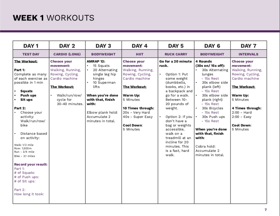 6-Week Workout Plan