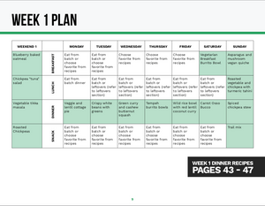 6-Week Meal Plan - For Plant Based Eaters