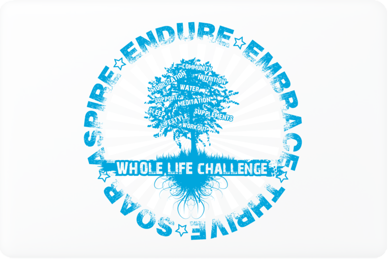 Whole Life Challenge Laptop Skin - Blue