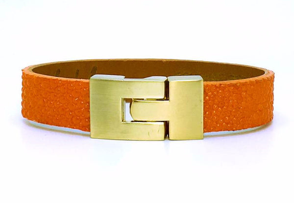 Single Jigsaw Bracelet Orange Stingray