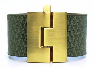 SALE Wide Earth Lizard Jigsaw Cuff