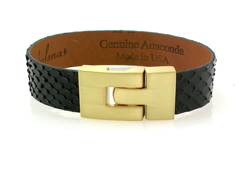 Single Jigsaw Bracelet Black Anaconda