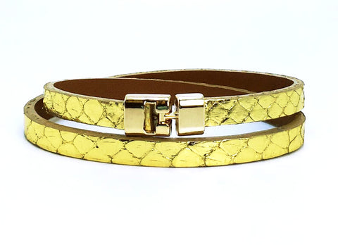 Double T-Bar Bracelet Cha Ching Python
