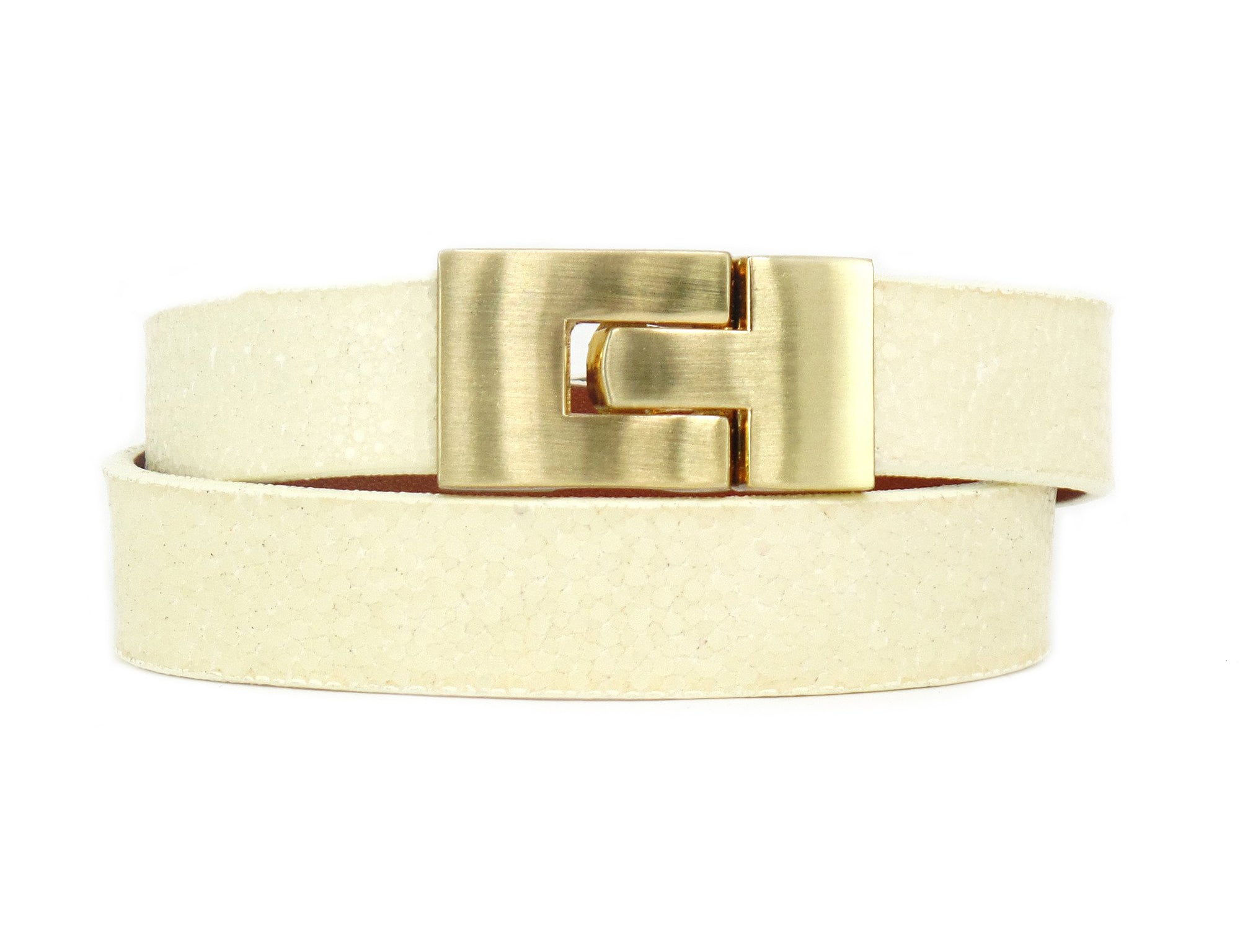 Double Jigsaw Bracelet Polished Ivory Stingray