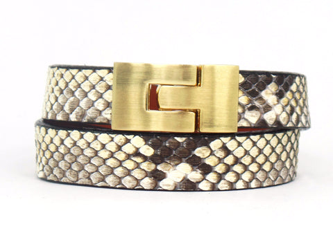 Double Jigsaw Bracelet Natural Python