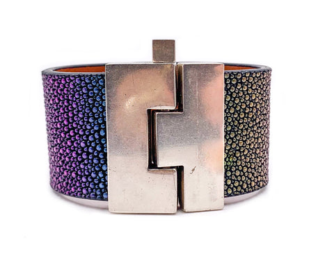 Rainbow Stingray Jigsaw Cuff