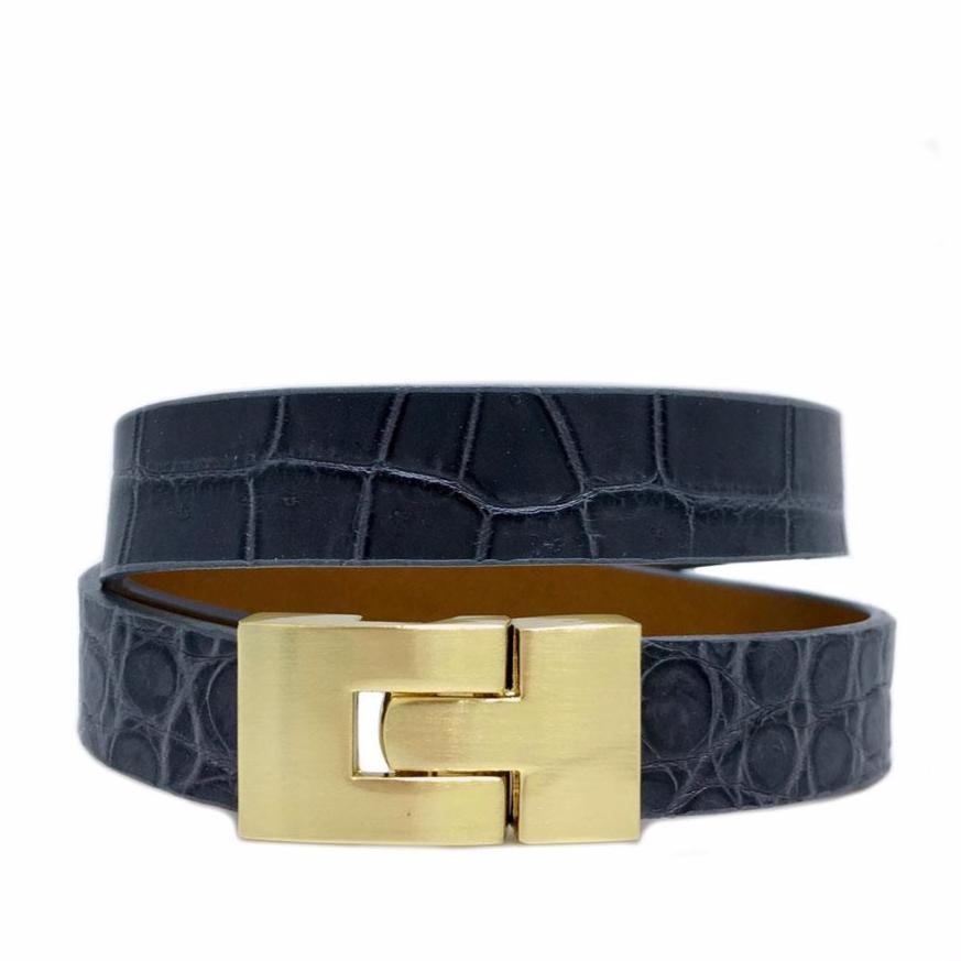 Double Jigsaw Bracelet Rain Alligator