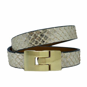 Double Jigsaw Bracelet Soft Gold Python