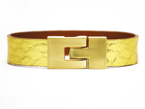 Single Jigsaw Bracelet 24 Karat Python