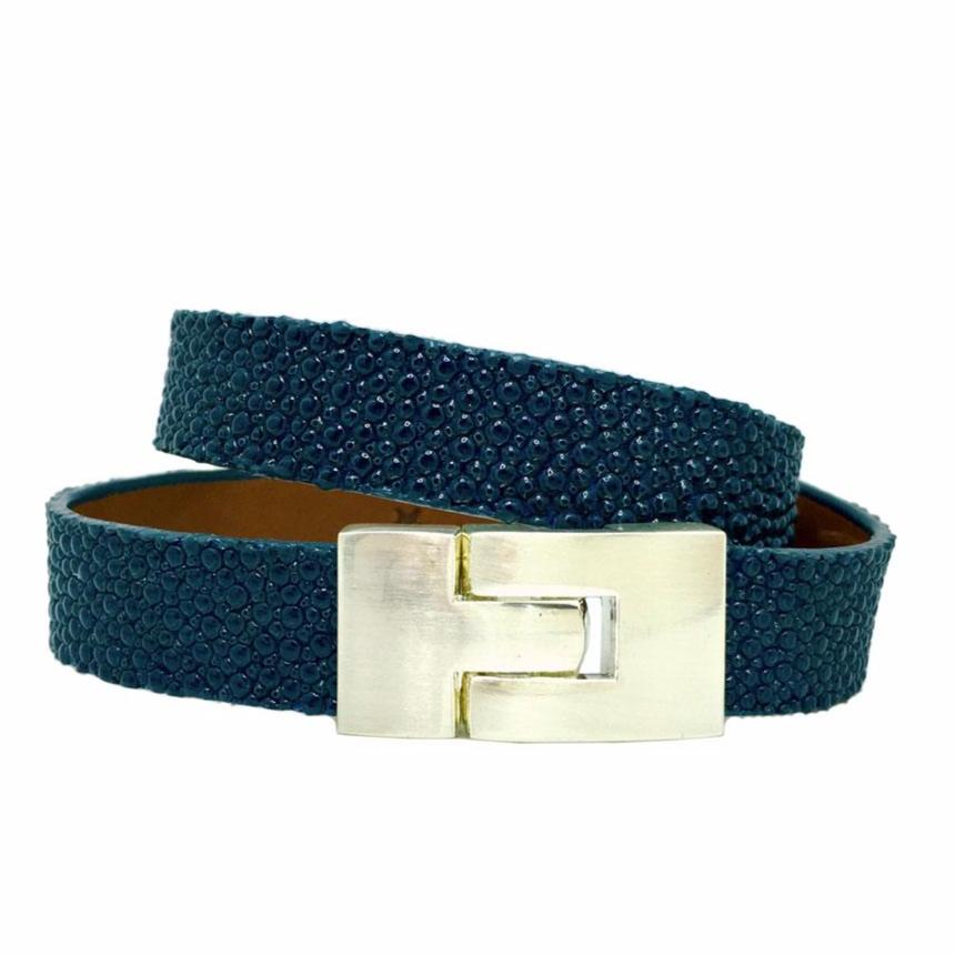 Double Jigsaw Bracelet Teal Stingray
