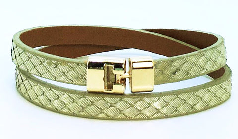 Double T-Bar Bracelet Phantom Python