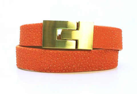 Double Jigsaw Bracelet Orange Stingray