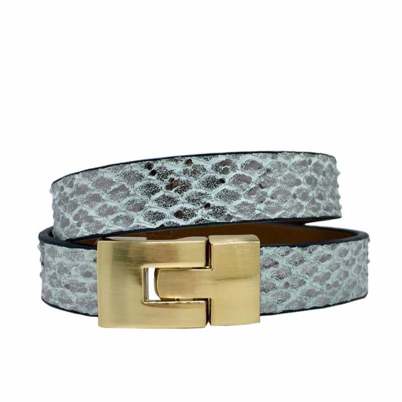 Double Jigsaw Bracelet Sea Mist Python