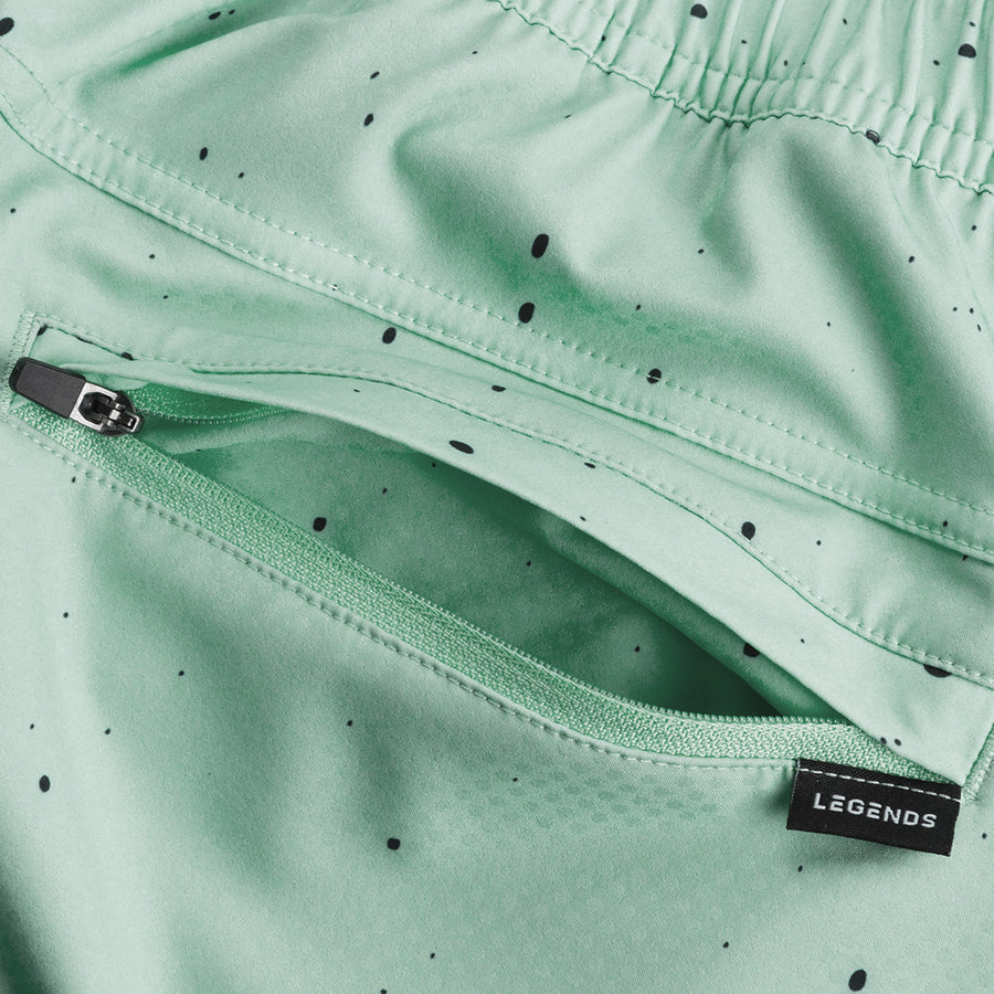 MINT-BLACK SPLATTER