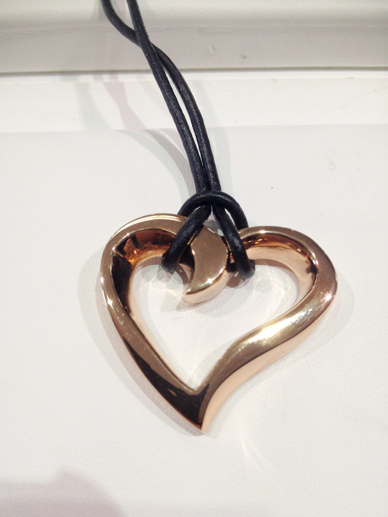 Rose Gold Stainless Steel Heart