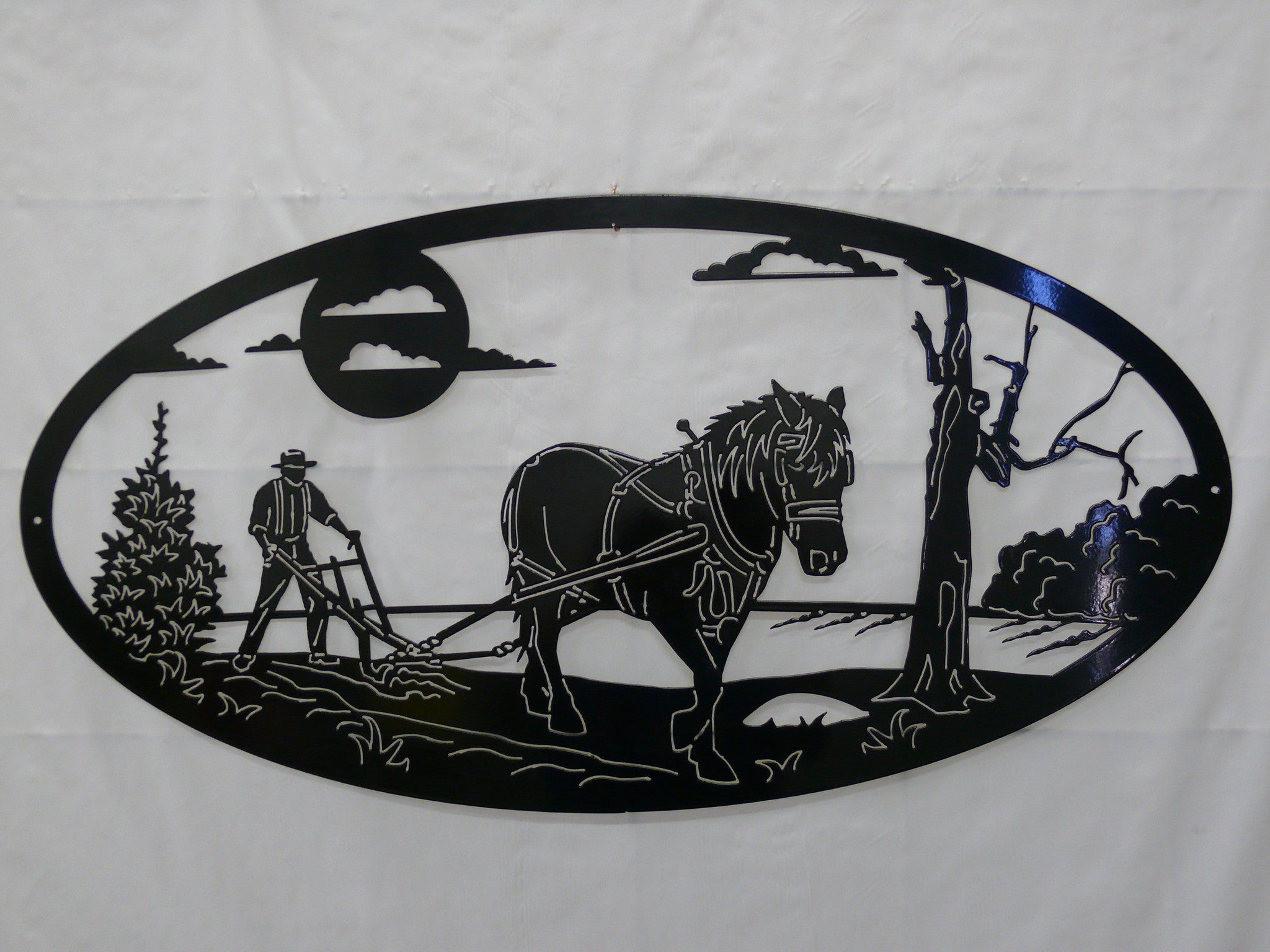Ploughing Draught Horse