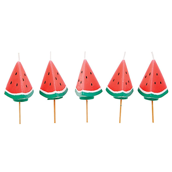 CANDLES WATERMELON 5PC