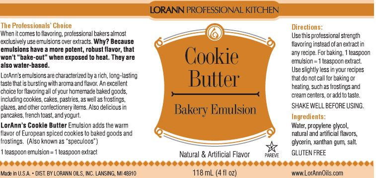 EMULSION 4OZ COOKIE BUTTER