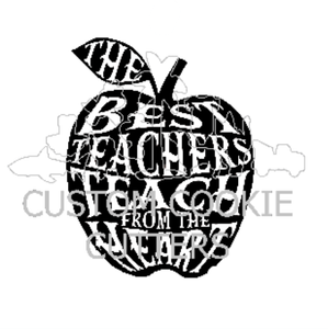 STAMP EMBOSSER THE BEST TEACHERS TEACH FROM THE HEART
