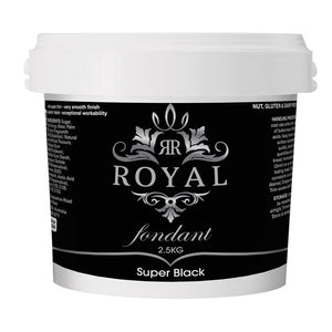 ROYAL FONDANT 2.5KG SUPER BLACK